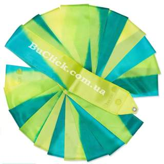 Гімнастична стрічка 6 м Chacott колір 233. Зелений Лист (Leaf Green)