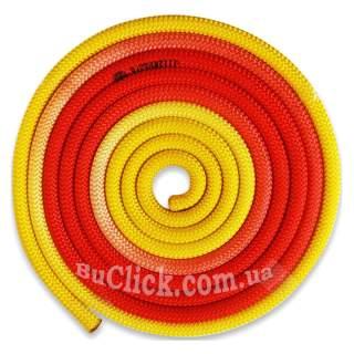 Скакалка Pastorelli модель New Orleans колір Жовтий-Помаранчевий-Червоний 04263
