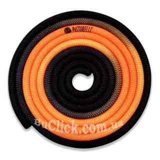 Скакалка Pastorelli модель New Orleans колір Помаранчевий-Чорний 04267